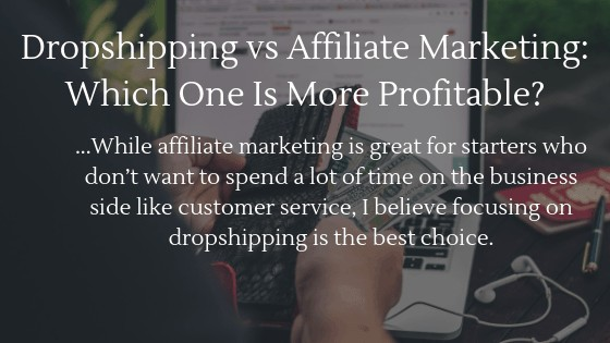 Dropshipping or affiliate marketing, which one is more profitable? I would say dropshipping is the better choice! Read below why I think that!