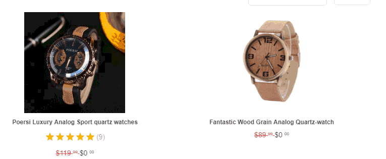 free plus shipping watches example