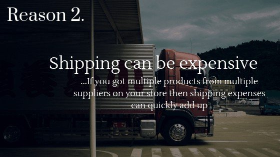 Lower Dropshipping Profits reason 2: shipping from multiple supplier can be expensive