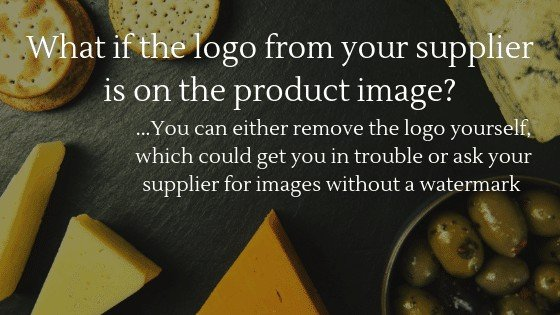 Product Images for Dropshipping Store: What if the logo from your supplier is on the product image?