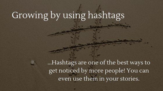 grow your dropshipping Instagram account by using hashtags