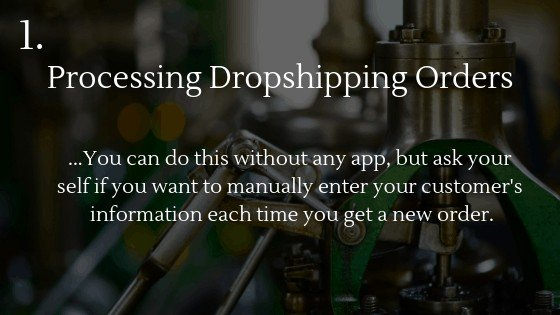 Best Shopify app for dropshipping beginners 1: Processing Dropshipping Orders