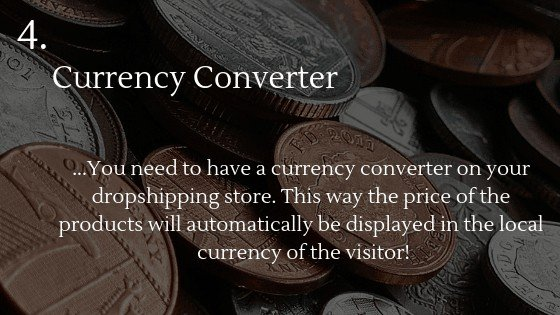 Best Shopify app for dropshipping beginners 4: Currency Converter