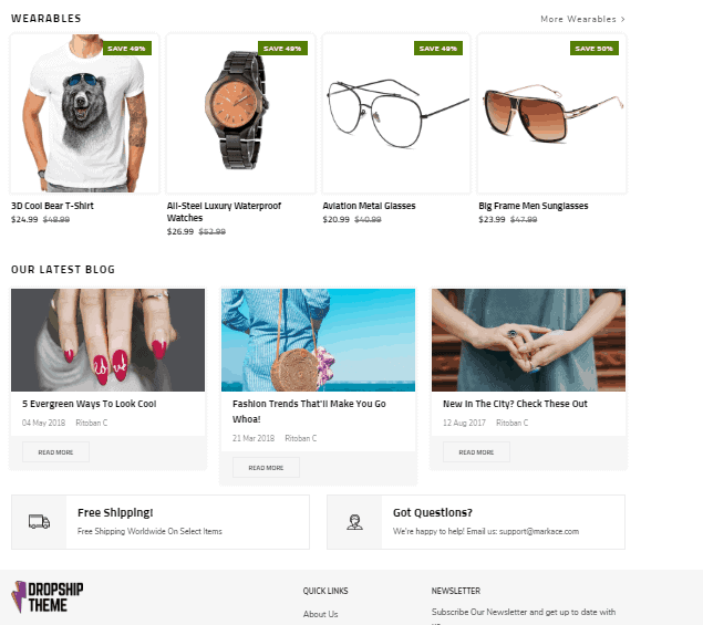 The best Shopify dropshipping themes: The Dropship Theme demo store