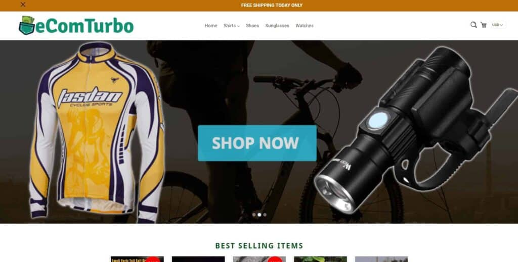 The best Shopify dropshipping themes: eCom Turbo demo store