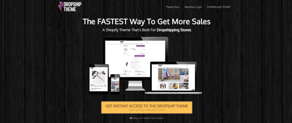 The best Shopify dropshipping themes: The Dropship Theme
