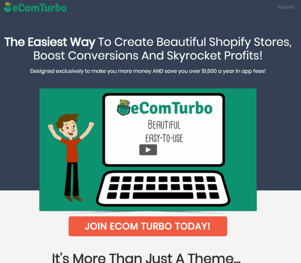 The best Shopify dropshipping themes: eCom Turbo
