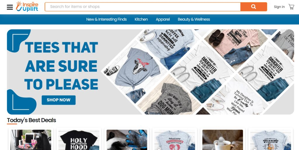 General Dropshipping Store Example: Inspire Uplift