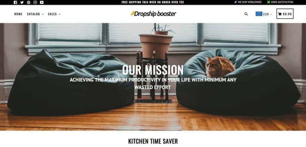 The best Shopify dropshipping themes: Booster Theme demo store