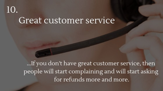 Dropshipping from China: Great customer service