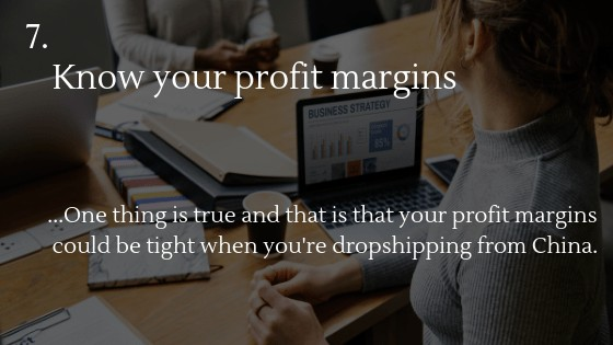 Dropshipping from China: Know your profit margins