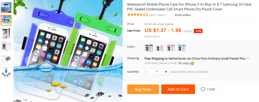 Products to avoid dropshipping: Waterproof products