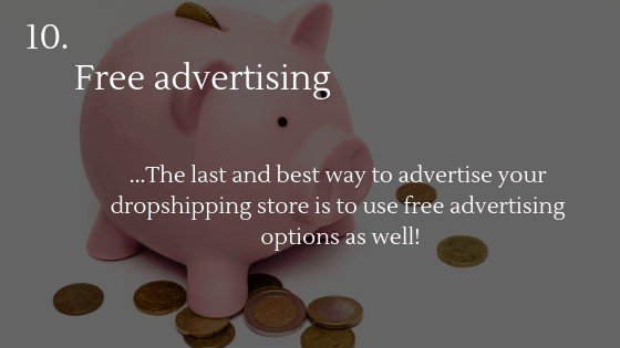 Advertise Dropshipping Store: Free advertising