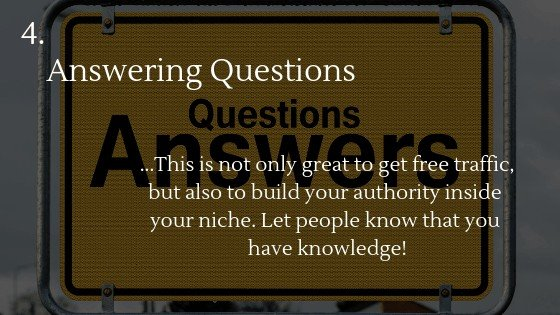 Free traffic dropshipping store option 4: Answering Questions
