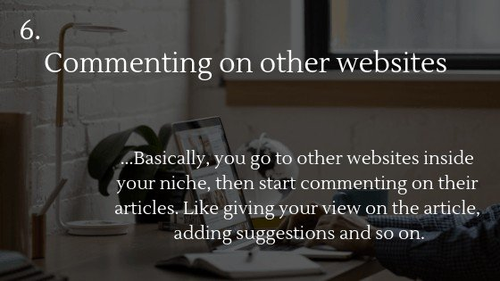 Free traffic dropshipping store option 6: Commenting on other websites