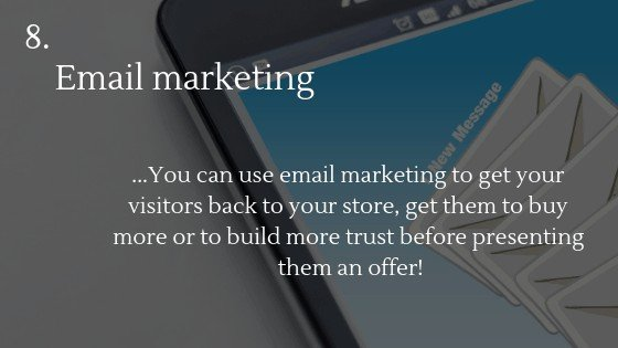Free traffic dropshipping store option 8: Email marketing