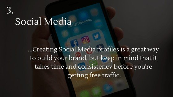 Free traffic dropshipping store option 3: Social Media