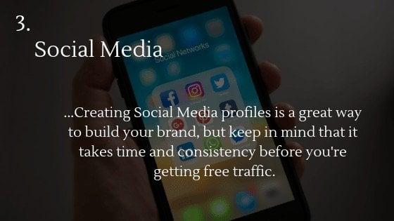 Free traffic dropshipping store option 3: Social Media