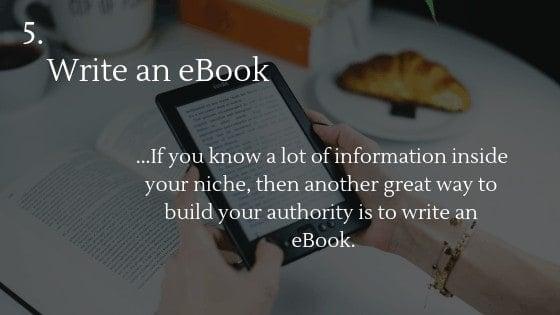 Free traffic dropshipping store option 5: Write an eBook