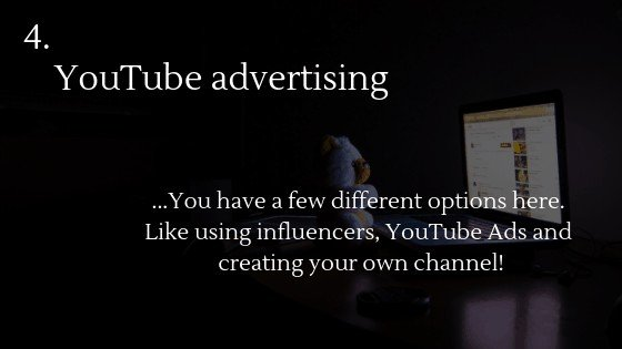 Advertise Dropshipping Store: Youtube advertising