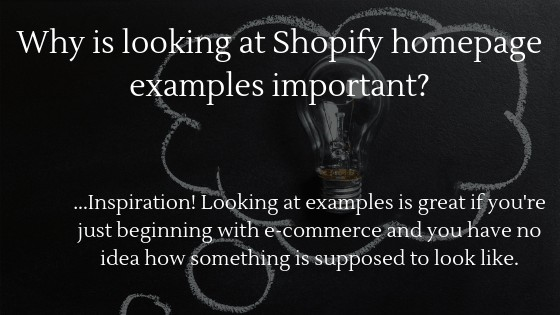 Learn why looking at Shopify homepage example is important!