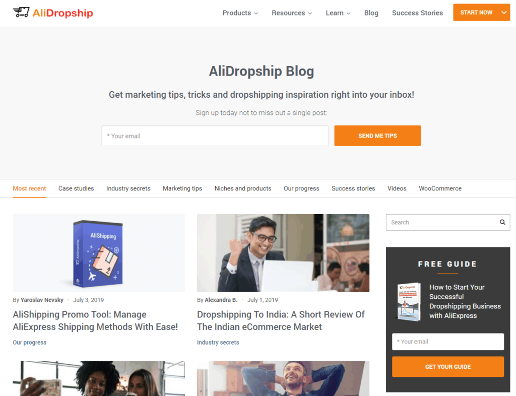Top Dropshipping Blogs in 2020: AliDropship
