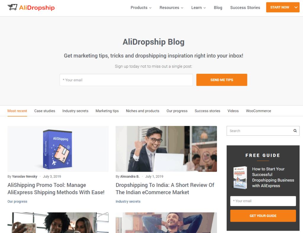 Top Dropshipping Blogs in 2021: AliDropship