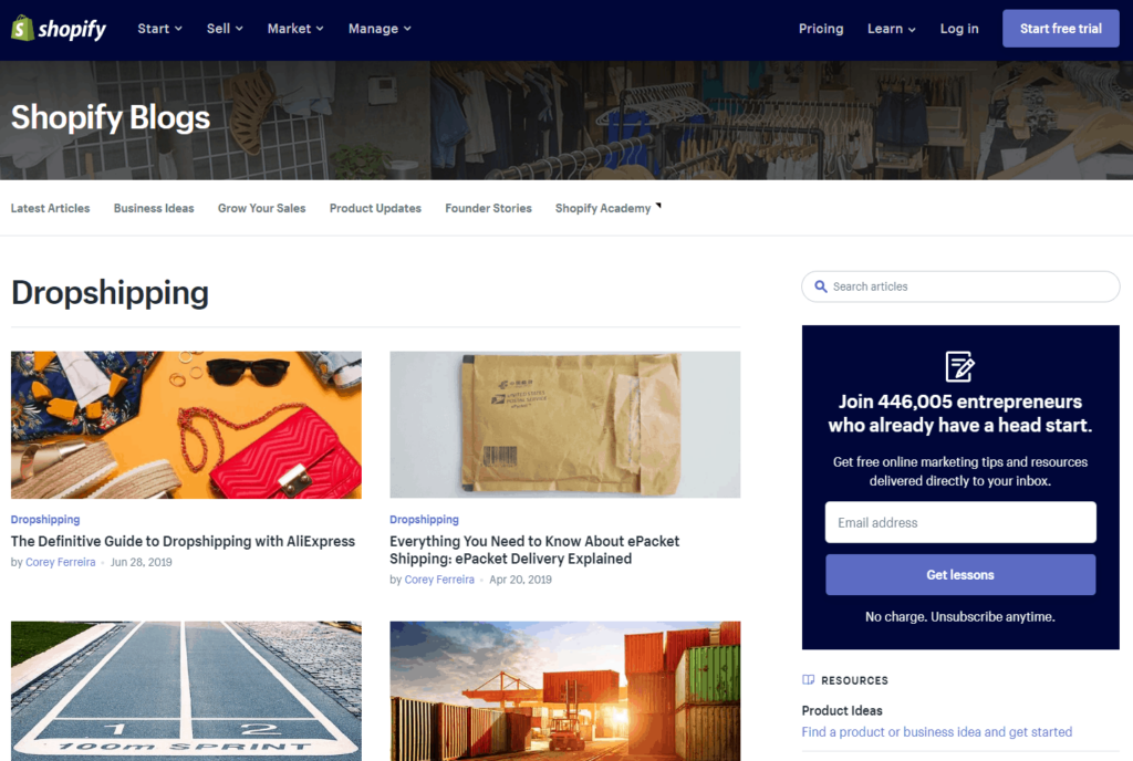 Top Dropshipping Blogs in 2019: Shopify