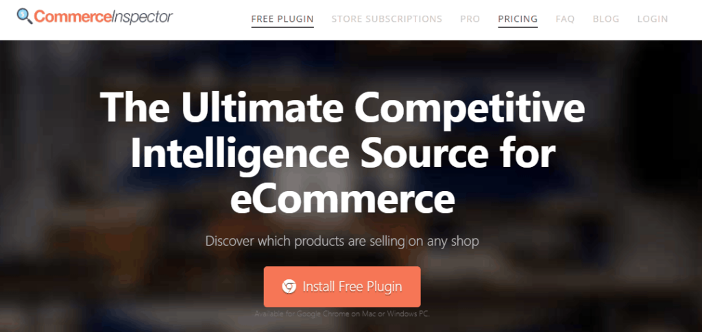 Dropshipping Tools: Commerce Inspector