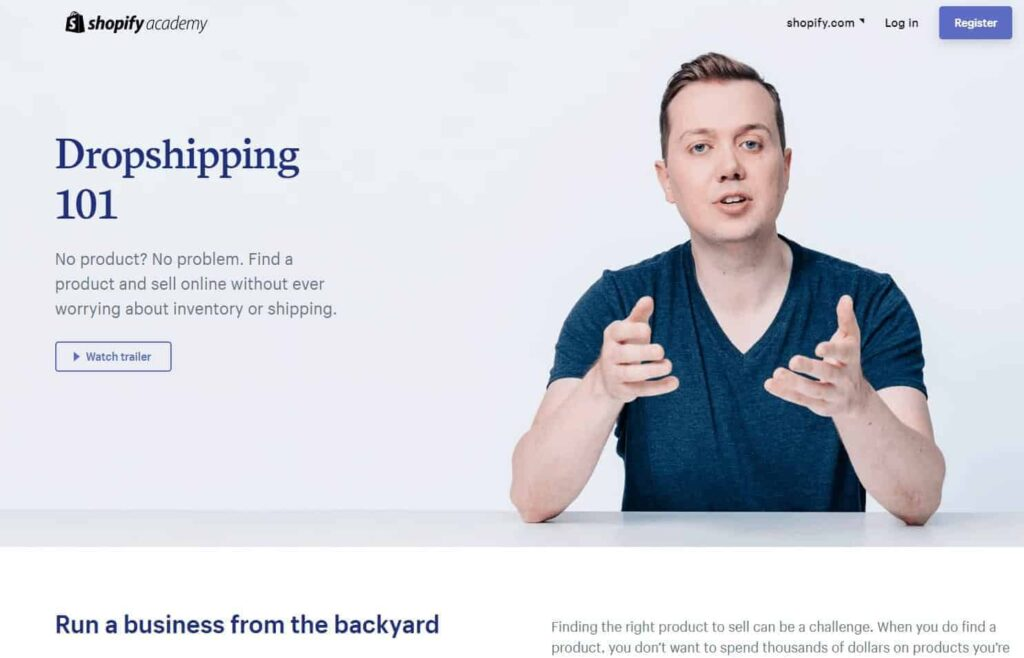 Free Dropshipping Course: Shopify Academy
