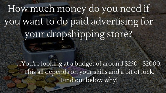 Can you start dropshipping without money in 2020: How much money do you need if you want to do paid advertising for your dropshipping store?