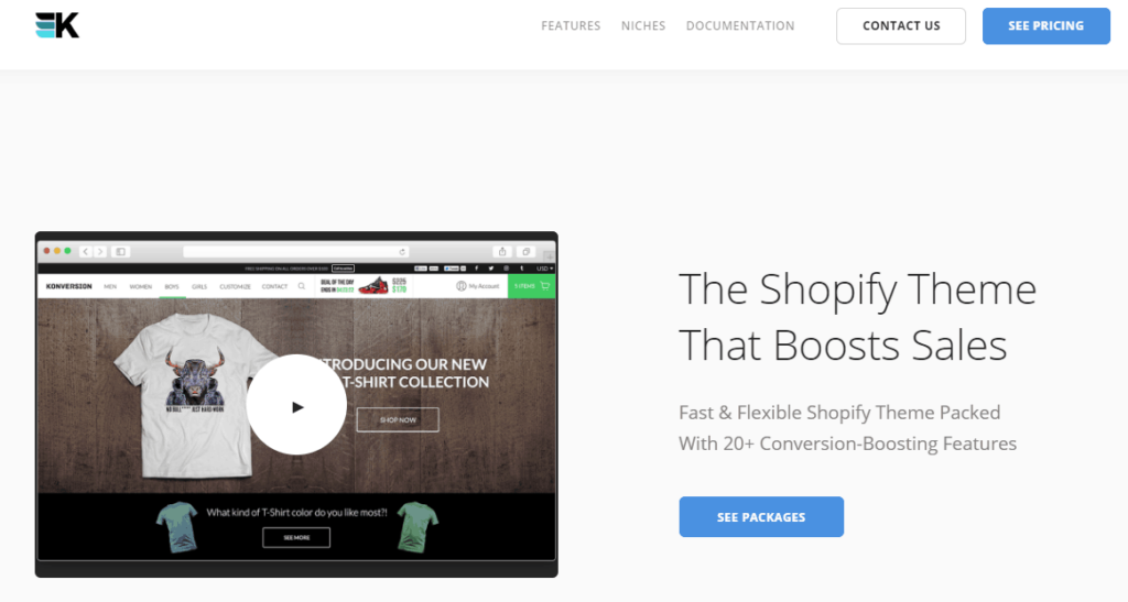 The best Shopify dropshipping themes: Konversion