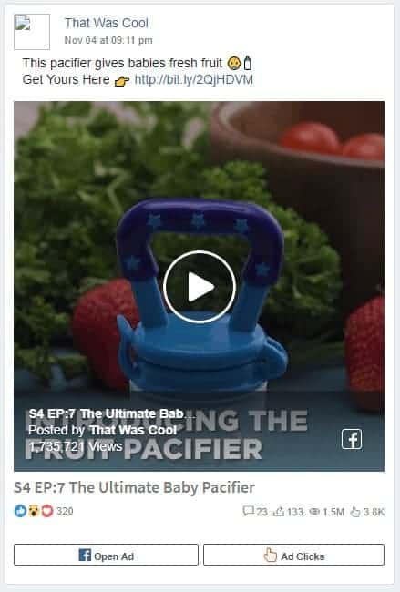 Dropshipping Facebook Ad Example nine: Shopping Network