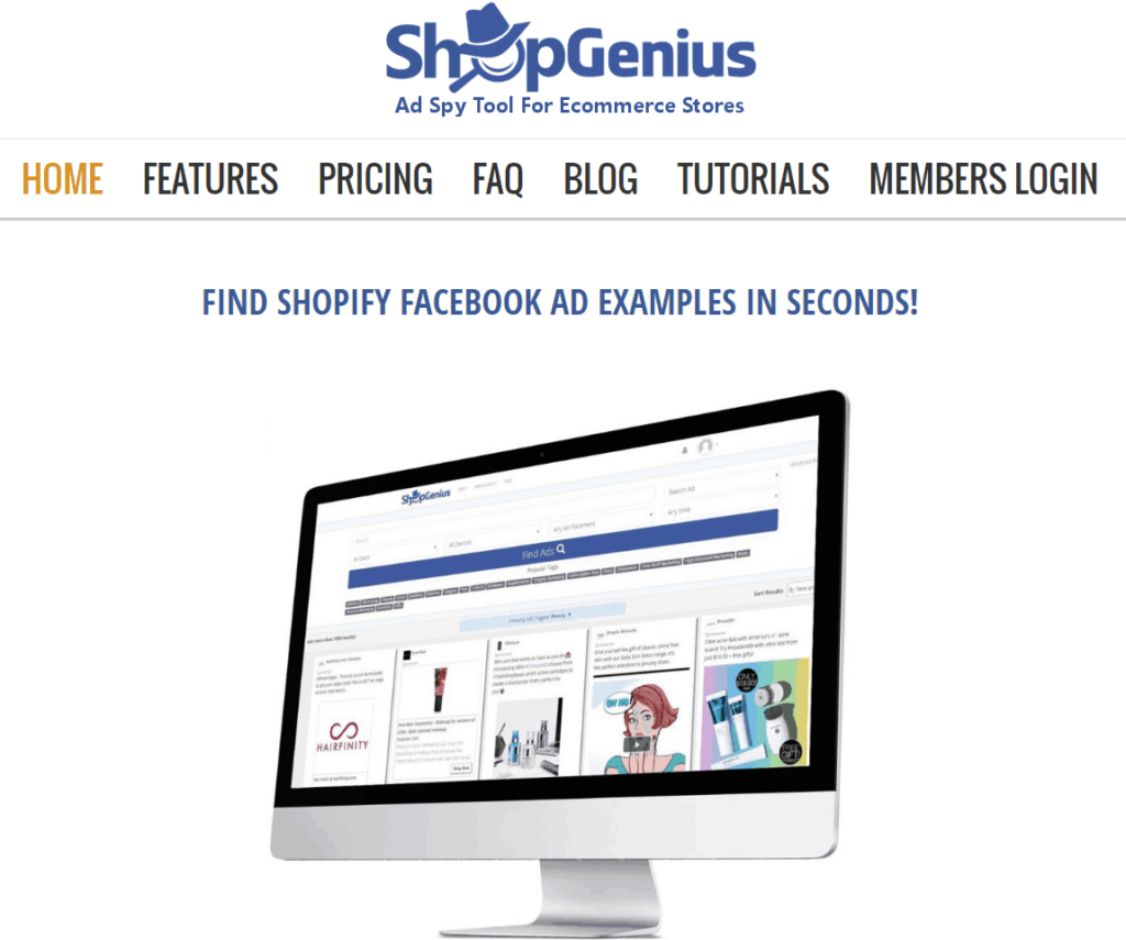 Best Dropshipping Product Research Tools: ShopGenius