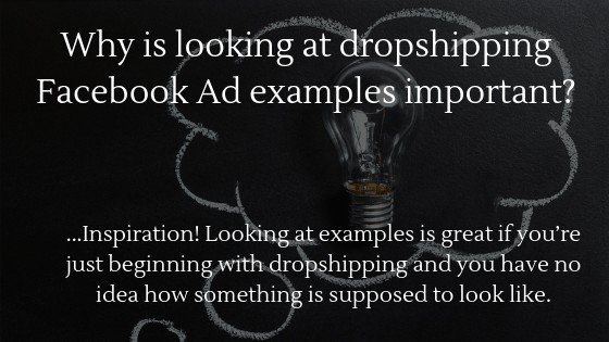Learn why looking at Dropshipping Facebook Ad examples is important