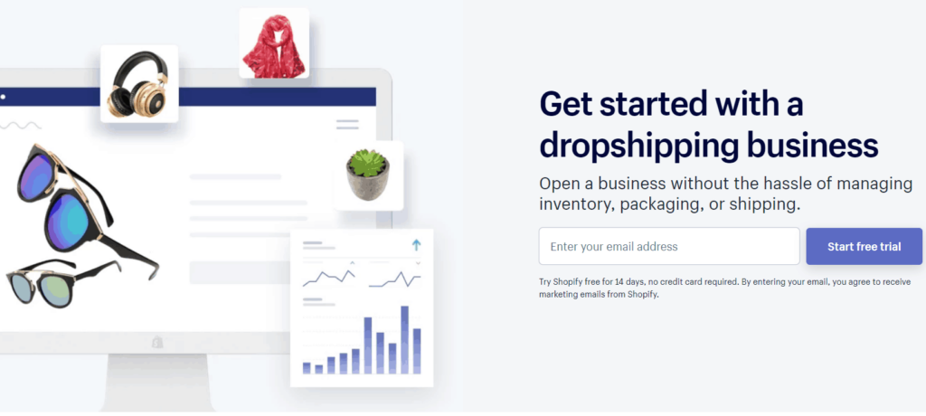 Get started with a dropshipping business using shopify