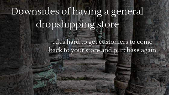Downsides of having a General Dropshipping store