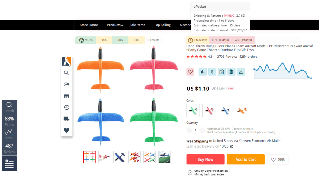 Free AliExpress Product Discovery Tools: 3. Asify