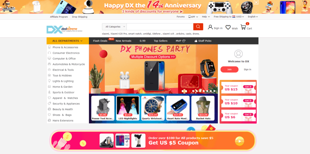 Dropshipping with AliExpress Alternatives: DealeXtreme