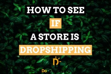 Learn how to see if an online (Shopify) store is Dropshipping!