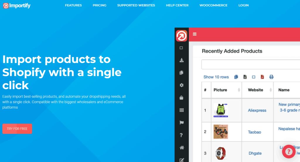 Oberlo Alternatives | Importify