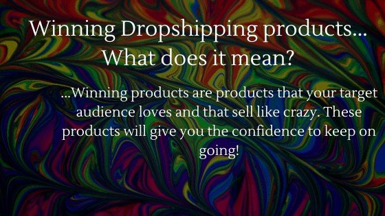 Winning Dropshipping Products | What does it mean?