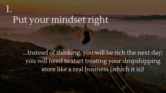 AliExpress Dropshipping | Step 1: Put your mindset right
