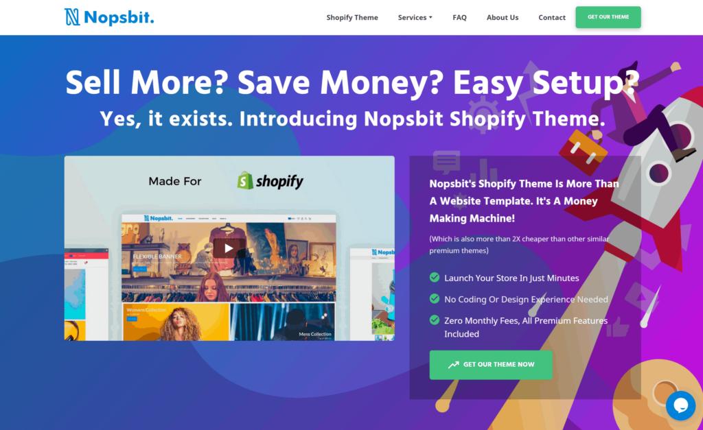 The best Shopify dropshipping themes: Nopsbit Theme