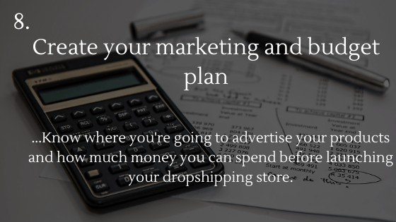 Shopify Dropshipping: Create Your Own Store | Create your marketing and budget plan