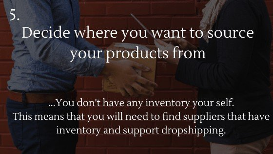 Shopify Dropshipping: Create Your Own Store | Decide where you want to source your products from