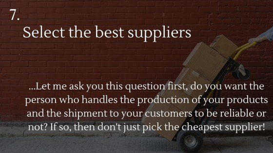 Shopify Dropshipping: Create Your Own Store | Select the best suppliers