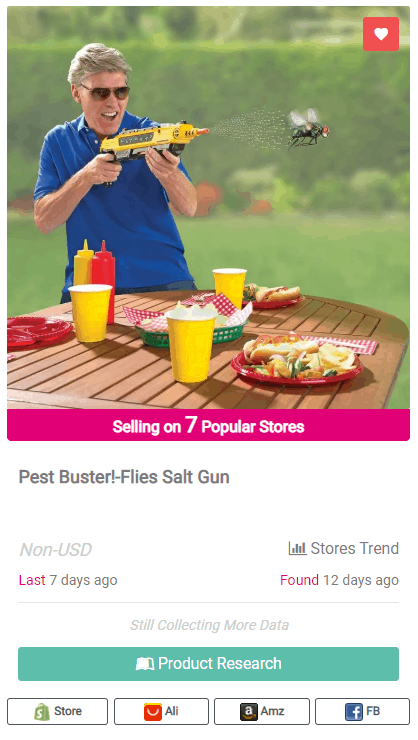 Winning Dropshipping Product Example: Flies Salt Gun