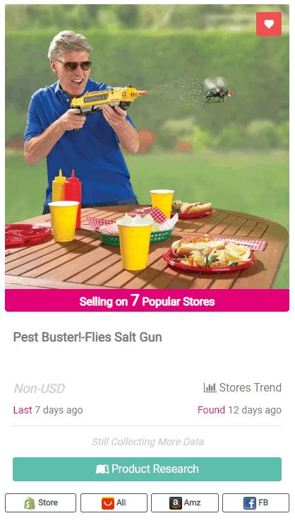 Winning Dropshipping Product Example: Flies Salt Gun