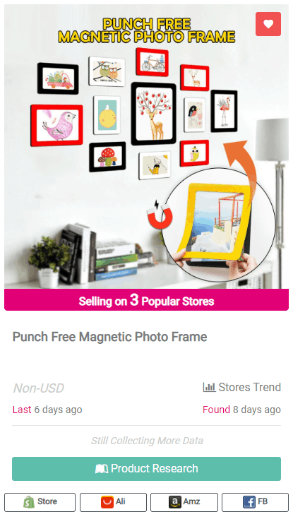 Winning Dropshipping Product Example: Magnetic Photo Frame